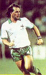 David McCreery Playing football for Northern Ireland