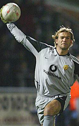 Roy Carroll Playing in goal for Northern Ireland