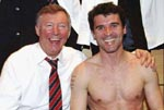 Roy Keane with alex Ferguson