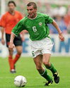 Roy Keane playing for Ireland against Holland